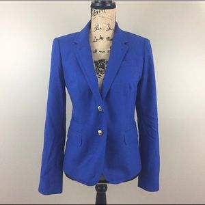 J Crew Classic Schoolboy Wool Blazer Royal Blue 8
